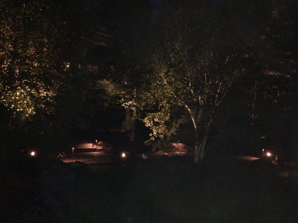 Backyard cast lighting system