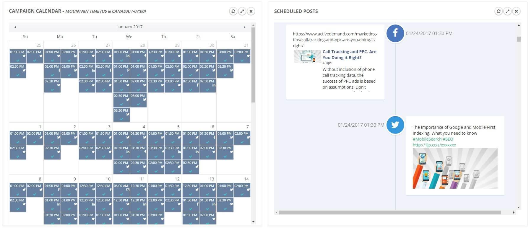 Social Media Scheduling Calendar