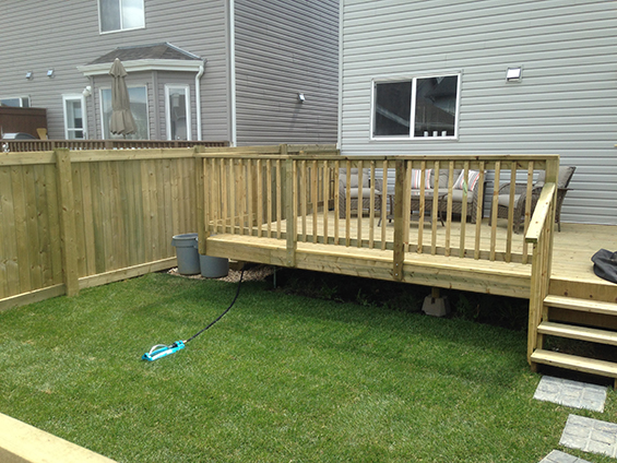 Backyard Fence and Deck
